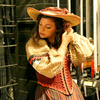 Backstage of The Gondoliers, 2014