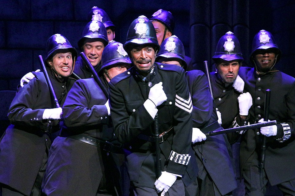"Jarrod Lee as the Sgt. of Police in ""The Pirates of Penzance."""
