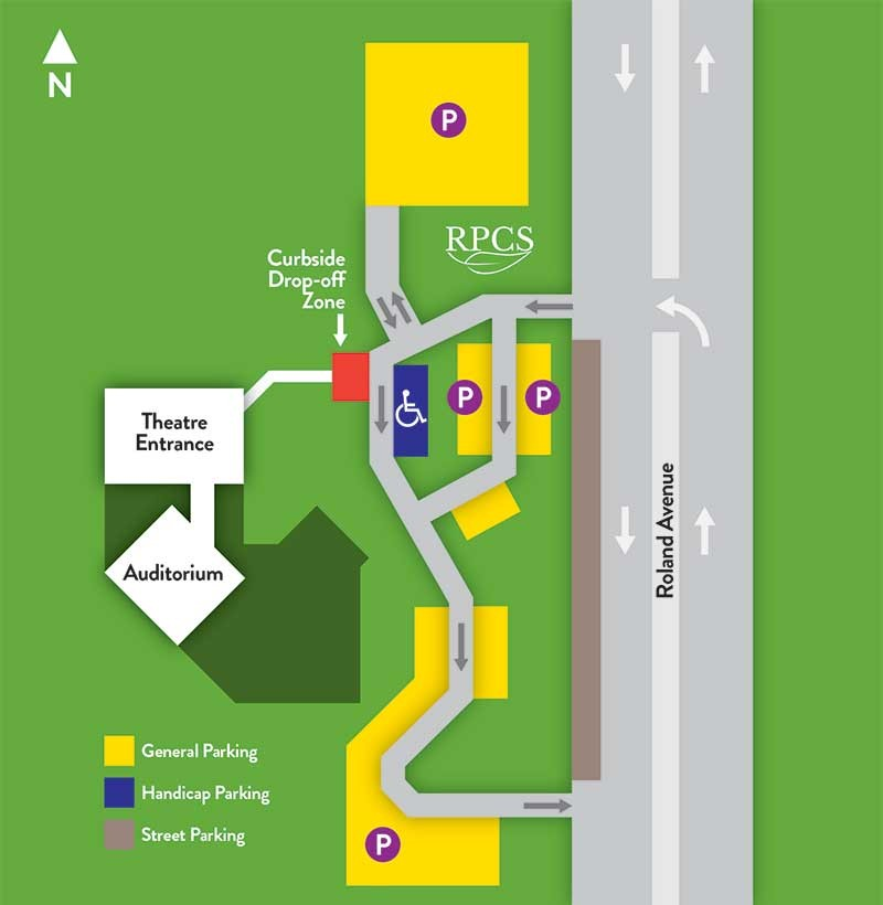 RPCS Campus Parking Map